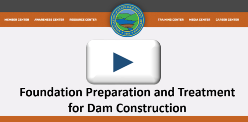 Stability of the dam foundation and other geologic features must be