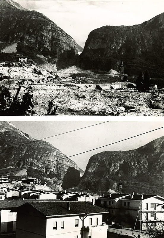 Before After 1963 Bi Level Remodeling In Boulder: Vajont Dam (Italy, 1963)